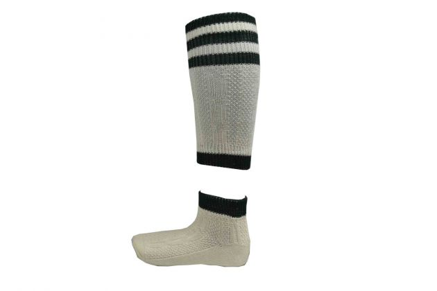 Loferl Groen/naturel (Beierse sokken)