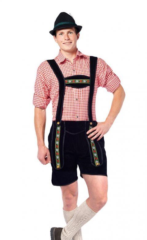 Lederhose Johann Black Short - XL
