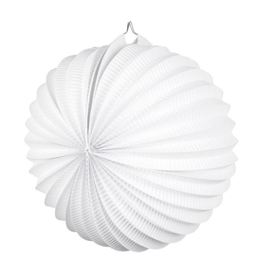 Papieren ballonlampion wit (23cm)