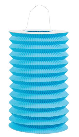 Papieren treklampion blauw (15cm)