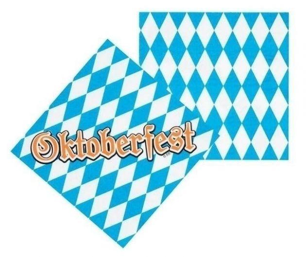 Oktoberfest servetten (per 12 verpakt) (33x33cm)