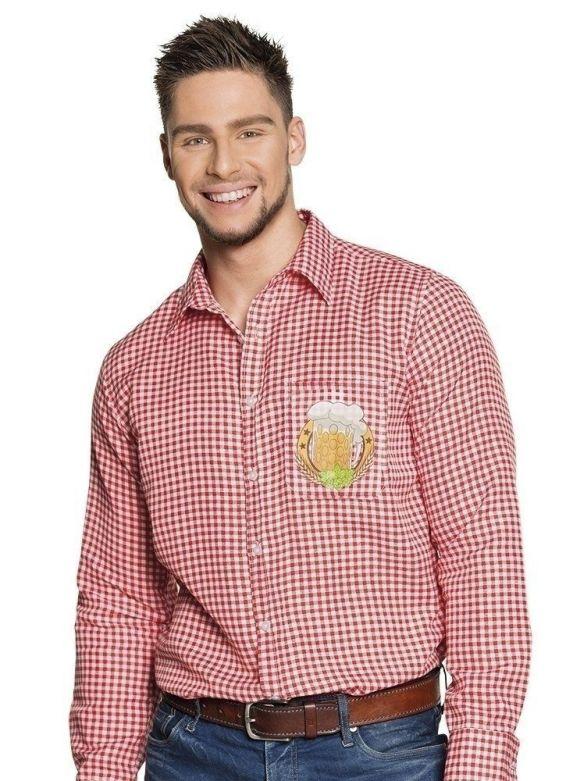 Shirt Oktoberfest Rood/Wit
