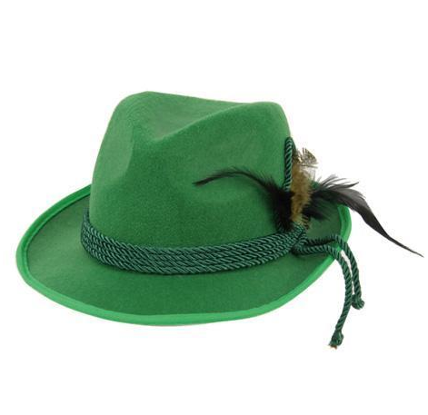 Tiroler hoed groen vilt