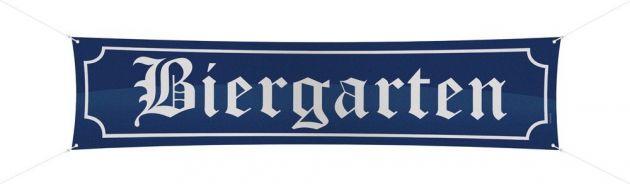 Banner Biergarten (180 x 40 cm)
