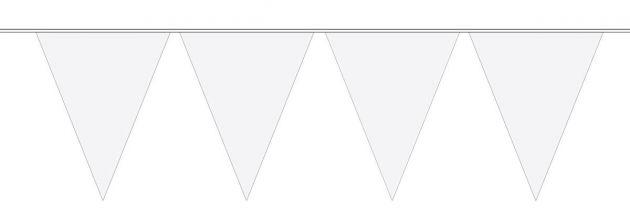 Vlaggenlijn wit 10 meter