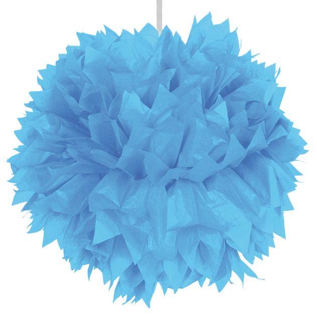 Pompom 30 cm licht blauw