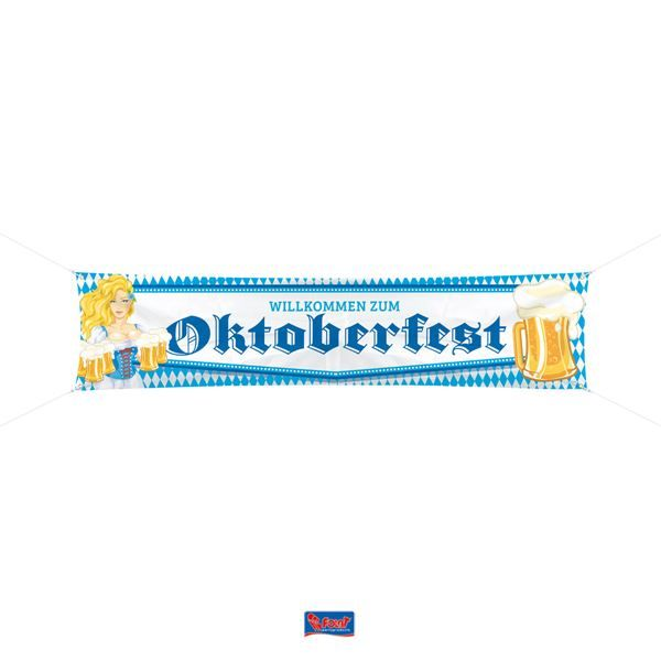 Spandoek Oktoberfest 40 x 180 cm plastic