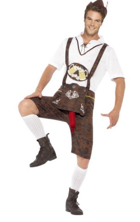 Lederhosenset Bratwurst met shirt en hoedje