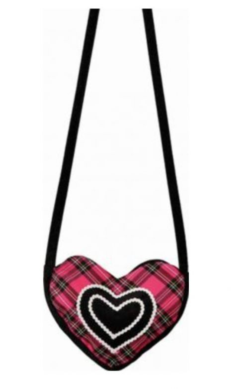 Heart bag pink-black