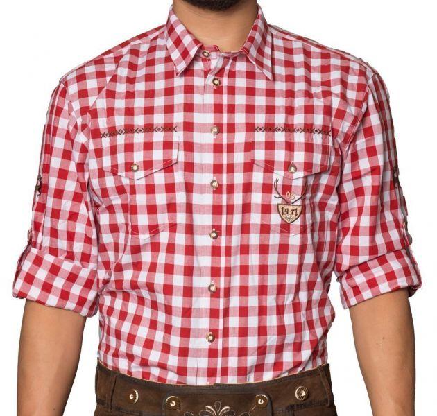 Trachtenhemd Milano Rood