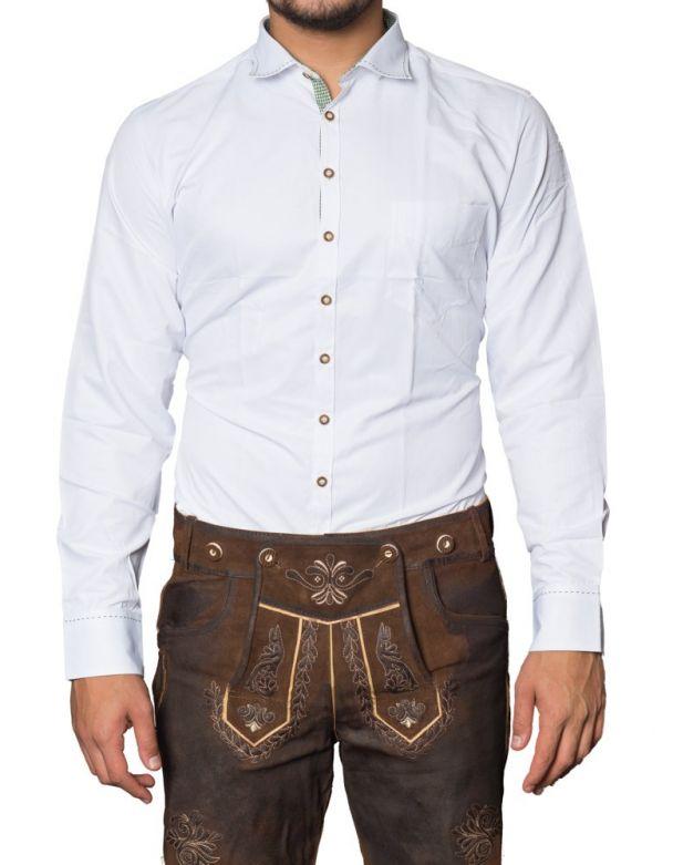 Trachtenhemd Salvatore Wit