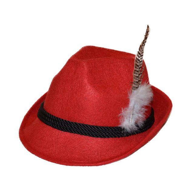 Jagershoedje Tirol (rood) / One Size