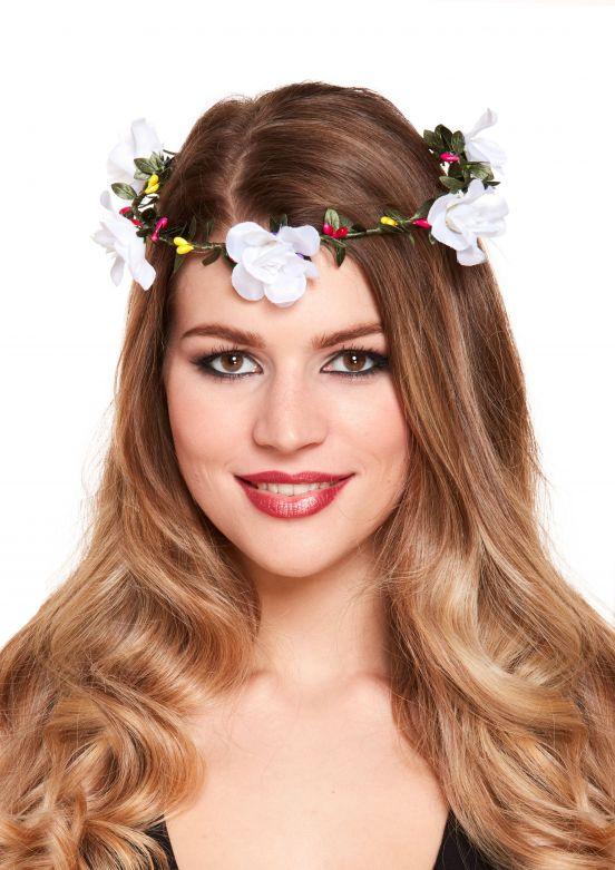 Tiara met bloemen