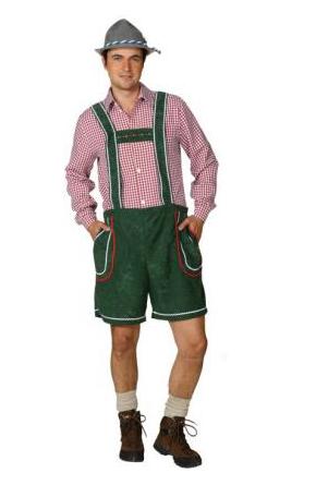 Lederhose Steffen kort groen / XL