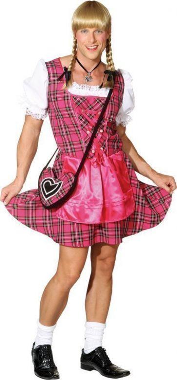 Heren dirndl 'Franzl' pink / S