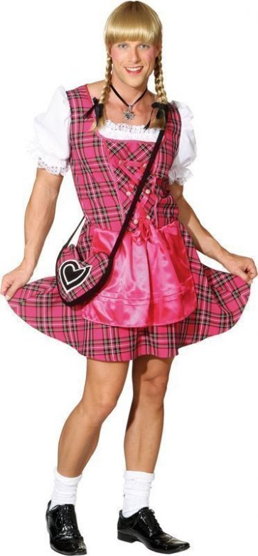Heren dirndl 'Franzl' pink / L